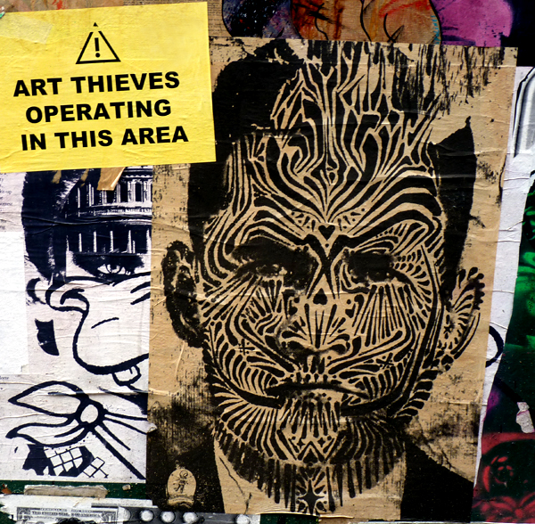 Tribal, Street Art, Paste-up ArtThieves