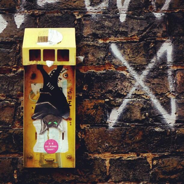 Bat Vampire Street Art Paste-up Shoreditch